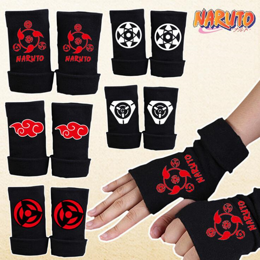 Anime Naruto Hatake Kakashi Gloves Anime Sharingan Mittens cosplay Costumes Toy Accessories