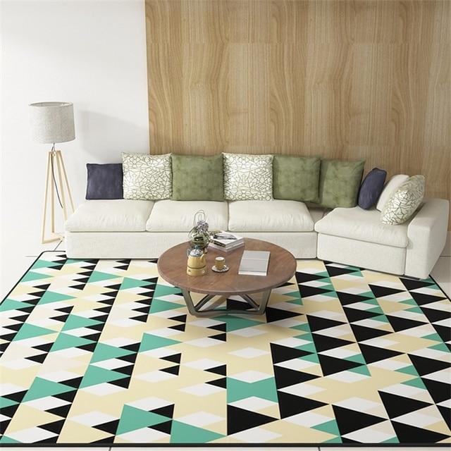 Simplicité scandinave géométrique doux plancher pied porte Yoga ...