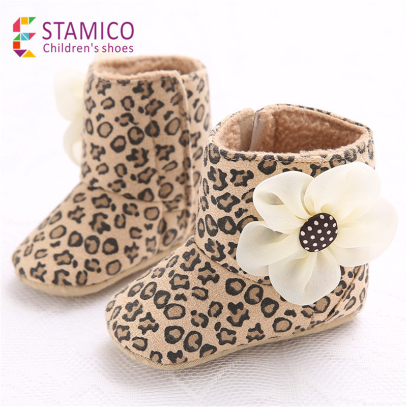 Kids Baby Girls Warm Winter Shoes Newborn Toddler Infant Snow Boots Non Slip Soft Sole Booties Prewalker Bebe Warming Baby Shoes