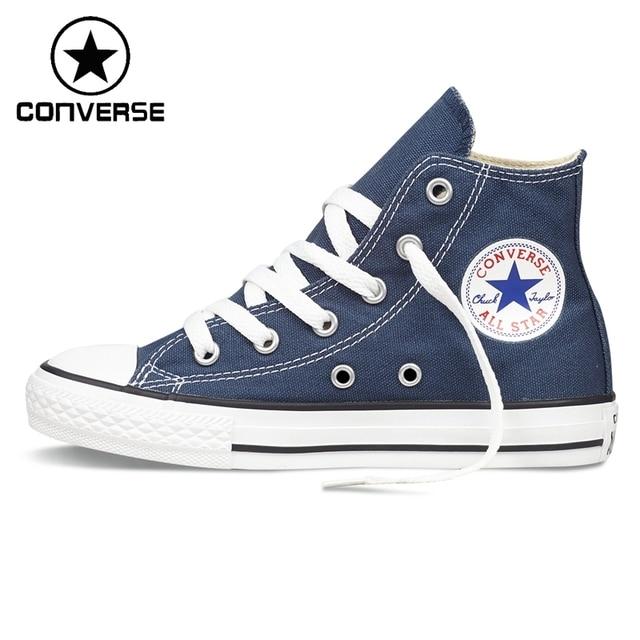 Оригинал Новое Поступление Converse Классический Детский Холст Обувь Высокий верх Sneakser