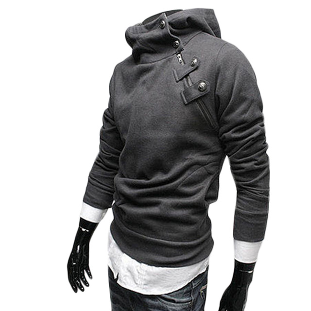 3fcbb6cc10b07 Fashion Hoodies Men Autumn Winter Warm Fleece Sweatshirt Mens Sudaderas  Hombre Turtleneck Hoodie Slim Fit Men Hoody Plus Size F2