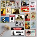 A Home Without Cat Is Just a House Pet Sign Metal Animal Tin Sign Vintage Plates For Wall Art Retro Home Decor 30X20CM A-5195B
