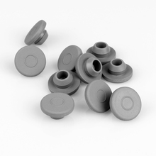 100pcs/lot 13mm 20mm Grey Color Butyl Rubber Stopper Medical for Vials Sealing Injection Cap