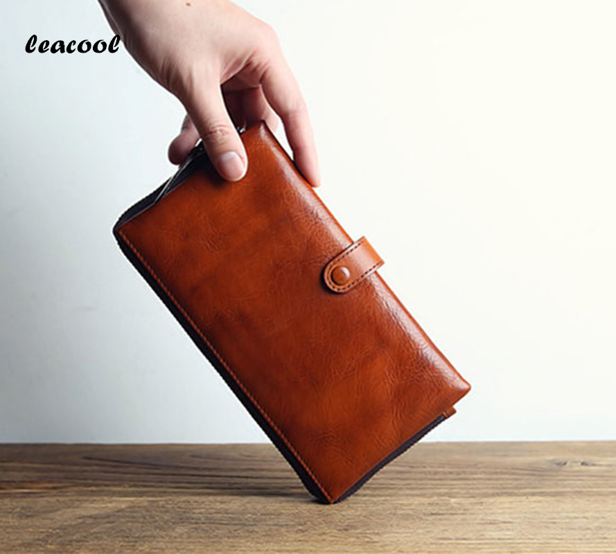 LEACOOL 2017 Italian Designer Clutch Bag Organizer Wallets Leather Genuine Wallet For Men Zipper Business evening Bag 3 Color italian visual phrase book