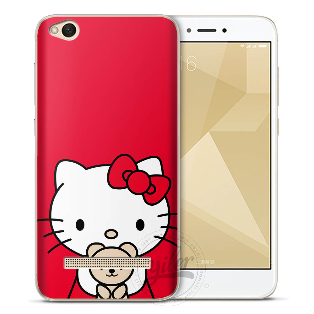 Coque bear cases for Redmi note 5 Case for XiaoMi Mi A1 6 5X Mi 8 Cases for Funda XiaoMi Redmi 5A case for Redmi 4X 5 Note 5A 5 in Fitted Cases from Cellphones Telecommunications