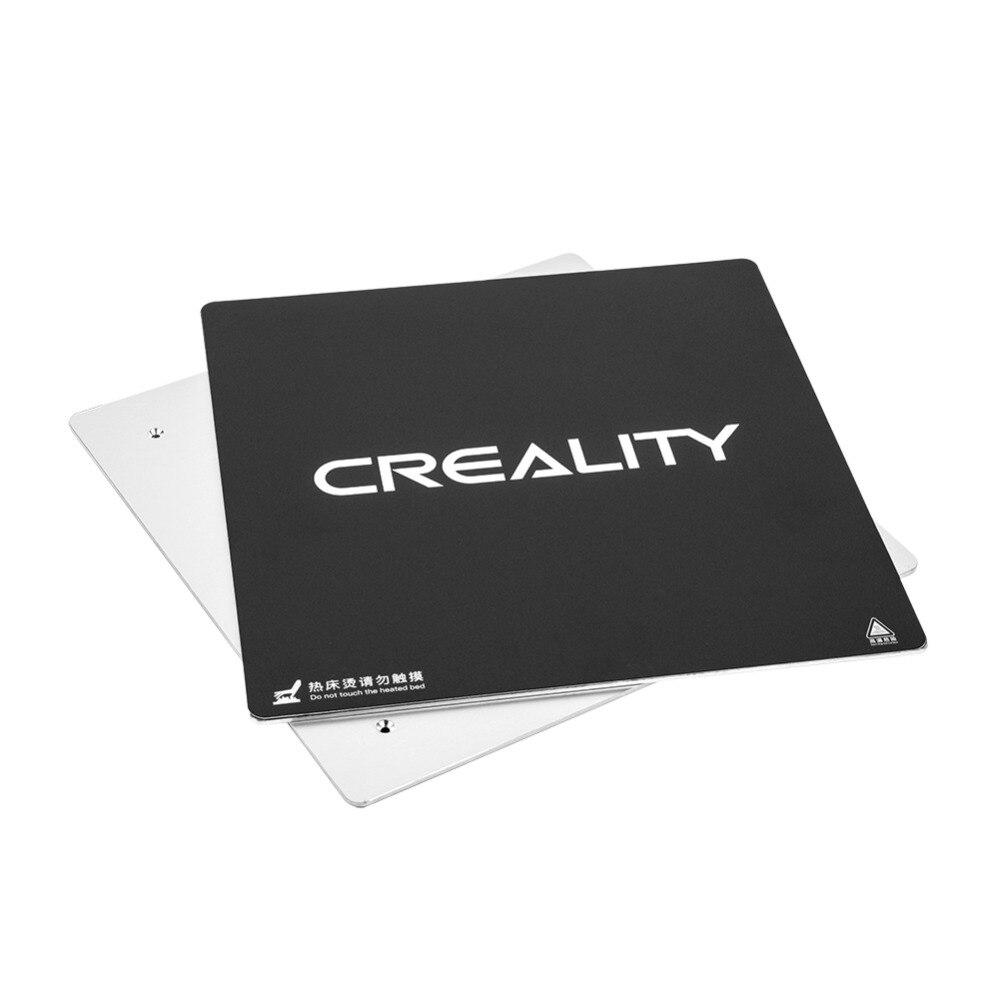 Pièce d'imprimante 3D originale plaque de lit chauffée + tampon autocollant 3 M pour CREALITY 3D CR-10S Pro 310*310*3mm avec imprimante 3D de cralité de câble