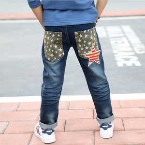 Image 2 - Trẻ em quần jean nam cotton jeans 3 11 Y Mùa Thu teenage Mùa Đông quần denim bé trai casual quần thời trang trẻ em denim quần