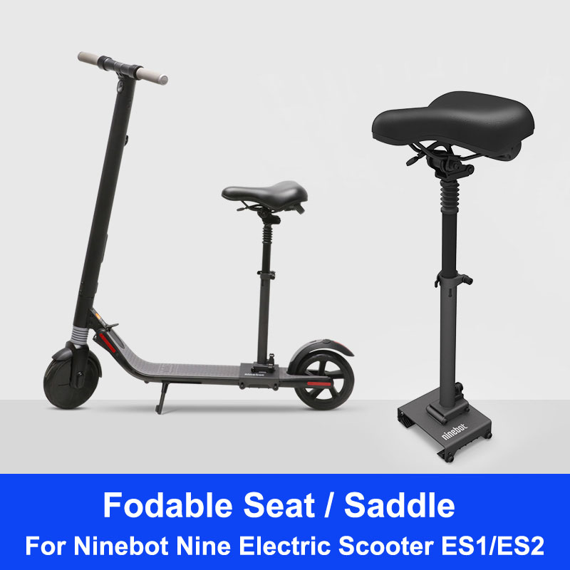 Official ES1/ES2 Scooter Seat Foldable Saddle Electric Scooter Seat Height Adjustable With Shock Absorbing for Scooter ES1/ES2