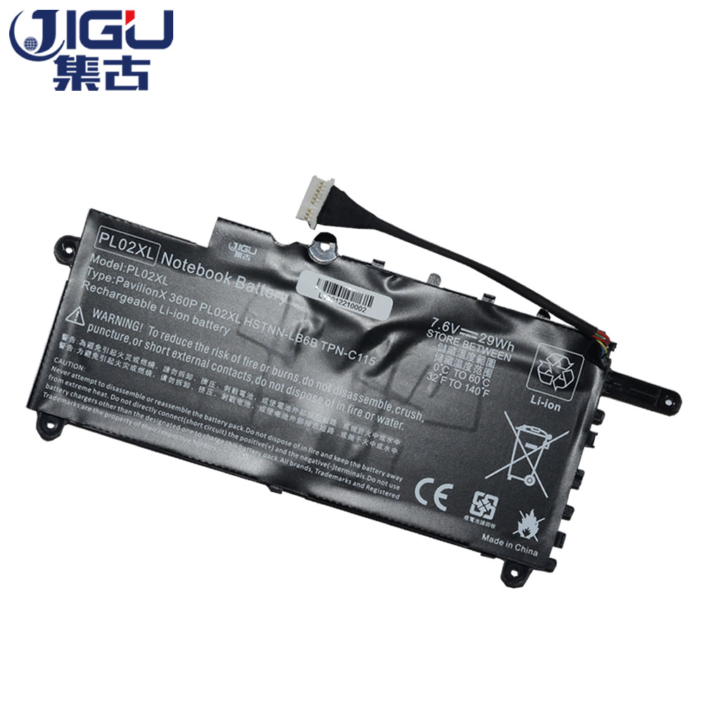 JIGU Laptop Battery HSTNN-DB6B HSTNN-LB6B PL02029XL PL02XL TPN-C115 For HP For Pavilion 11 X360 SERIES 11-n009tu X360 jigu laptop battery eg04 eg04xl ego4xl hstnn db3t hstnn ib3t tpn c103 tpn c108 for hp envy 6 series envy sleekbook 6