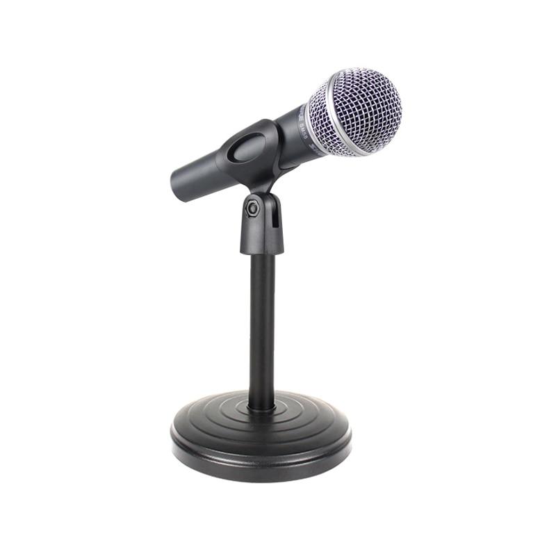 Unterhaltungselektronik Willensstark Mini Tragbare Tisch Mikrofon Mic Stand Halterung Desktop Runde Basis Halter Qjy99
