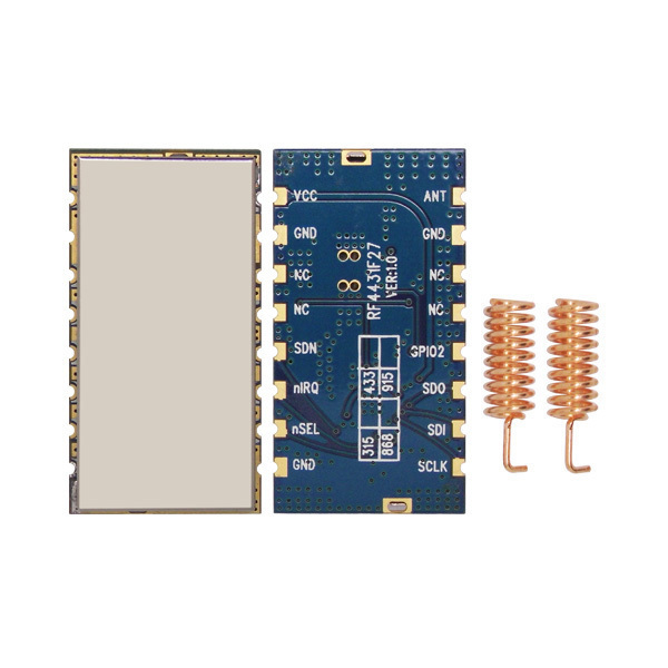2pcs/lot high performance 3km 868MHz 500mW embedded Wireless Transmitter Receiver RF Module FSK / GFSK Module RF4432F27