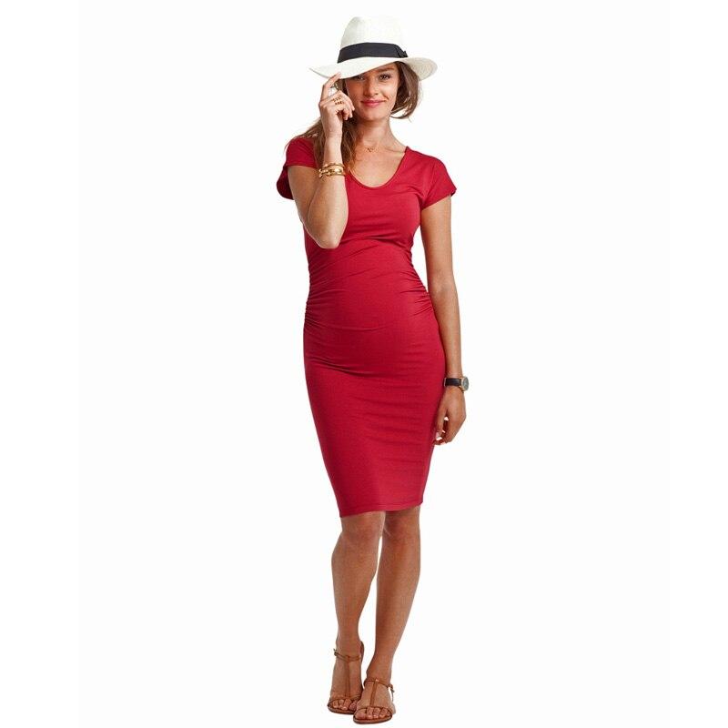 Nouveaux cadeaux Costume vêtements pour la grossesse belle robe de maternité élastique élégant bureau grande taille Vestidos robes de plage