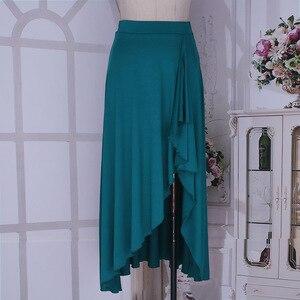 Image 5 - TiaoBug 新女性非対称伸縮性ウエストバレエダンススカート体操大人のパフォーマンス現代叙情的なダンス衣装