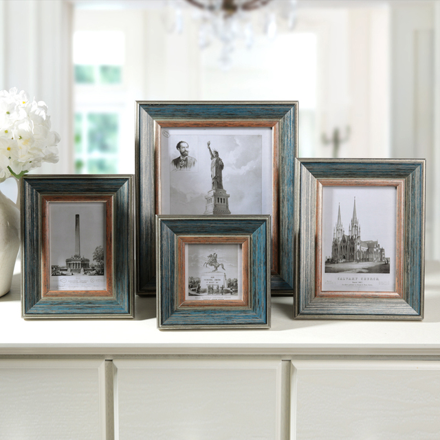New Style Wooden Picture Frame,Creative Vintage Style Photo Frames,Classic Photo Frame Family,Wedding Picture Frame Wall Desktop