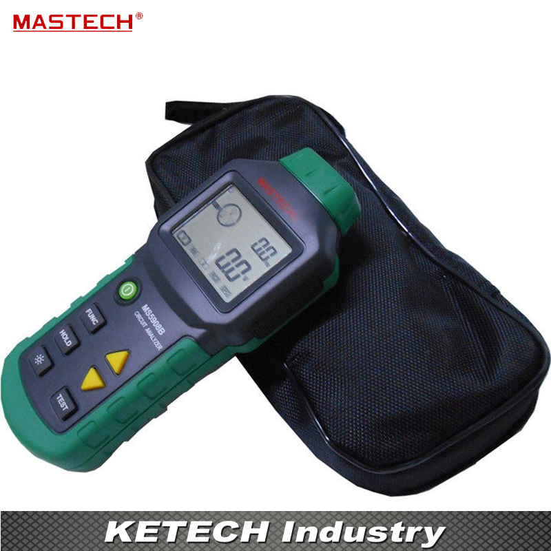 все цены на  Circuit Analyzer Mastech MS5908 TRMS AC Low Voltage Distribution Line Fault Tester RCD GFCI Sockets Testing  онлайн