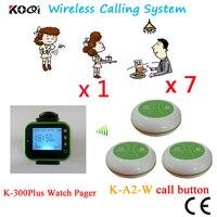 Çağrı cihazı Garson Çağrı Sistemi Ses Ses Çan Restoran Çağrı Cihazı CE Geçti Güzel Tasarımı Ile (1 izle + 7 düğme)