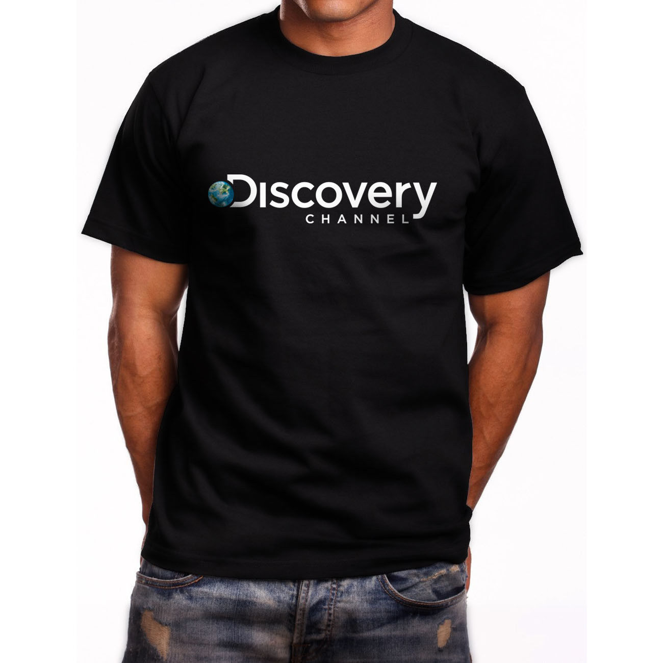 New Discovery Channel Logo Short Sleeve Men/'s Black T-Shirt Size S to 5XL