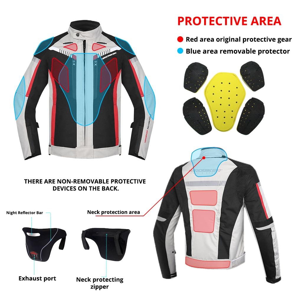 HEROBIKER printemps automne Moto veste hommes imperméable coupe vent Moto veste équitation course Moto vêtements Moto Protection - 4