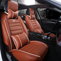 9PCS Universal Luxury Leather Automobiles Seat Covers +2PCS Seat Supports Washable Car Accessories