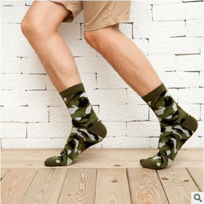 Calcetines Hombre Real Standard Casual Mens Socks 2018 New Men Camouflage Gentleman In The Tube Cotton Socks