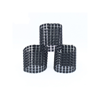 Laial Napkin Rings Eco-Friendly PE Rhinestone Wrap Napkin Ring Holder For Hotel Home Chair Table Wedding Decoration Pack Of 400