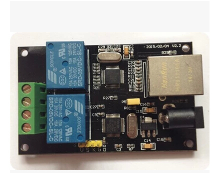 Free Shipping!!! 2 Relay / Ethernet relay / smart home / remote control / network relay Remote Switch module sensor