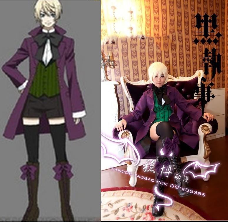 Black Butler Alois Trancy Cosplay Party Anime Cosplay Costume Clothes Coat+Shirt+Tie+Vest+Shorts