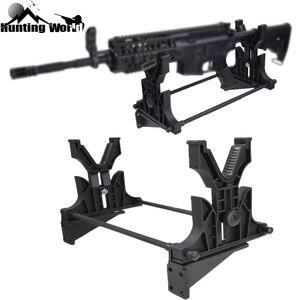 Image 1 - Подставка для ружья, тактическая стойка для уборки, обслуживания и демонстрации винтовки, подставка для пистолета, держатель, настенная подставка для охотничьей винтовки, аксессуары