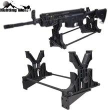 Suporte de banco tático para rifle, equipamento de manutenção e exibição para parede, suporte para arma, acessórios para rifle de caça