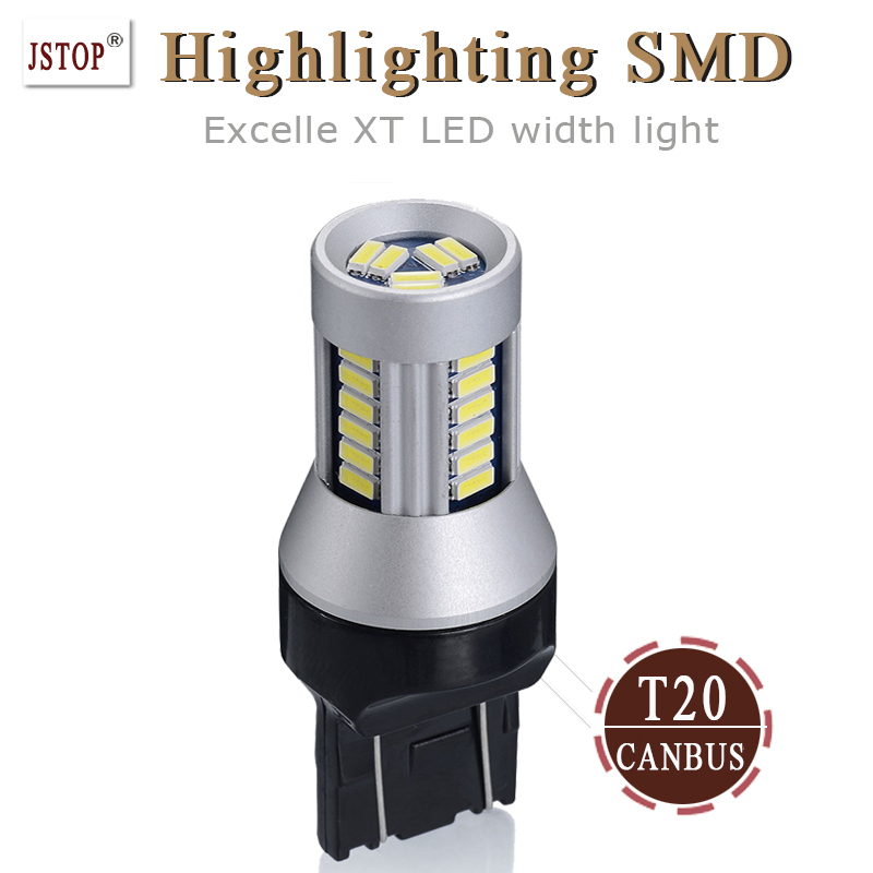 XT width light 7443 lamp Super bright 24V Lights led 12V T20 W21/5W led Lamp 4014SMD Clearance Light T20 canbus led signal bulbs