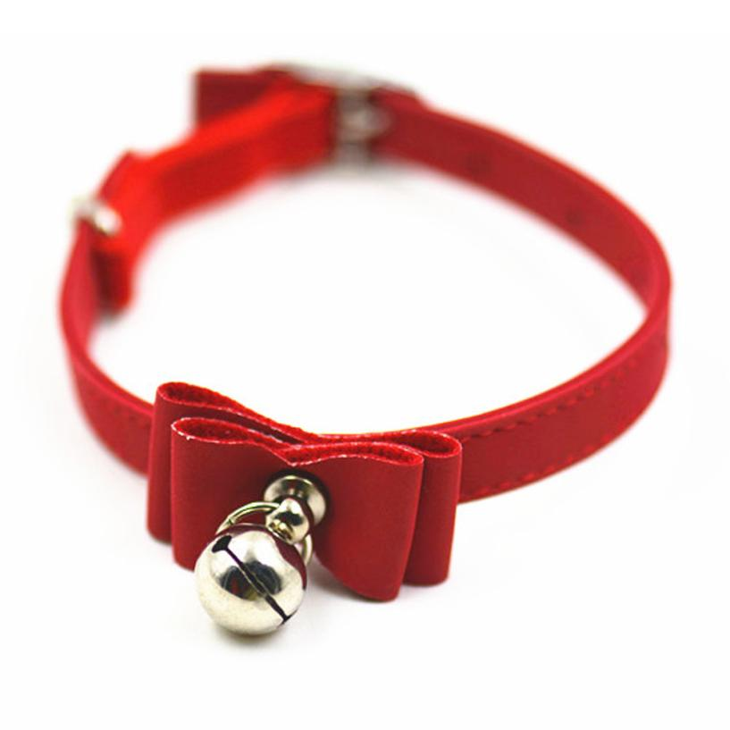 Pet Led Collar Cute Bow Collar with Bell Small Dog Adjustable Necklace Cat Collars Hot Sale Coleira Cachorro #7405