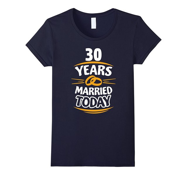 Gift For 30th Wedding Anniversary Of Parents T Shirt 2017 Summer
