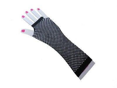 Горячие девушки сексуальные хип-хоп панк сетчатые красные перчатки для ночных клубов - Цвет: Белый