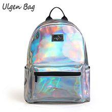 Mode frauen Hologramm Rucksäcke für jugendliche mädchen Laser Silber Farbe Holographic Spiegel Mini Schulter Taschen für studenten