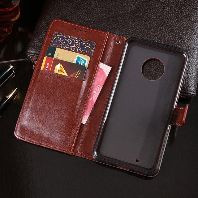 size 40 f7caf 586ae US $5.94 15% OFF For Motorola Moto G6 Case Retro Wallet Style PU Leather  Flip Case Book Cover For Motorola Moto G6 Plus Phone Bag Coque Cases-in ...