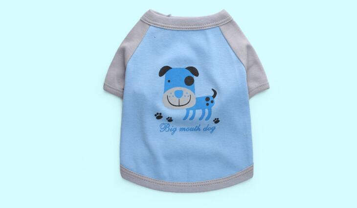 Dogs cats classic strip vest doggy summer styl t shirt clothes pet dog cat suit pets vests 1pcs XS S M L
