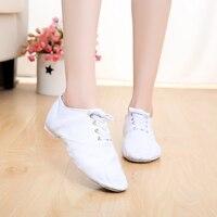 Brand Desinger Canvas Jazz Shoes Ballet Dance Shoes Split Heel Sole Shoe Blk Red White Pink