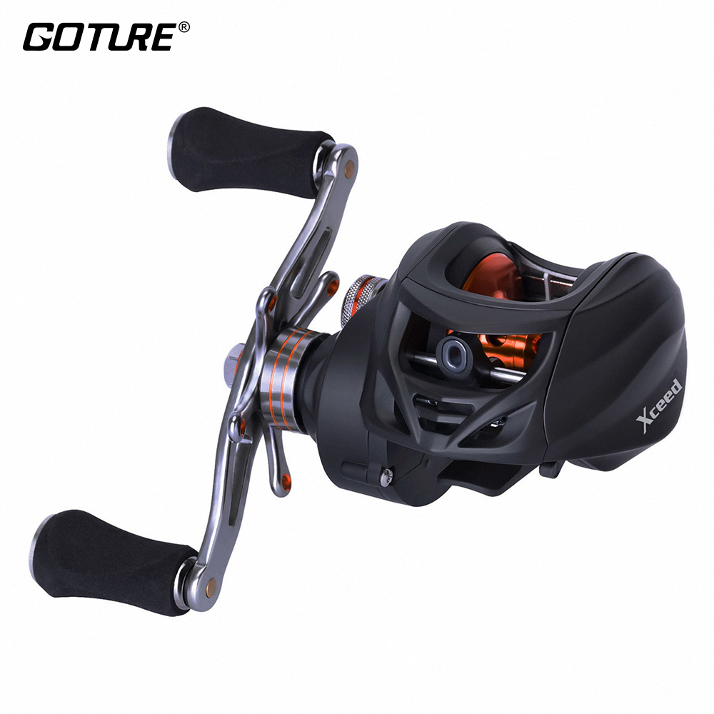 Goture NEW Xceed Baitcasting Fishing Reels 6 3 1 Max Drag 18lb 8kg Centrifugal Drag System