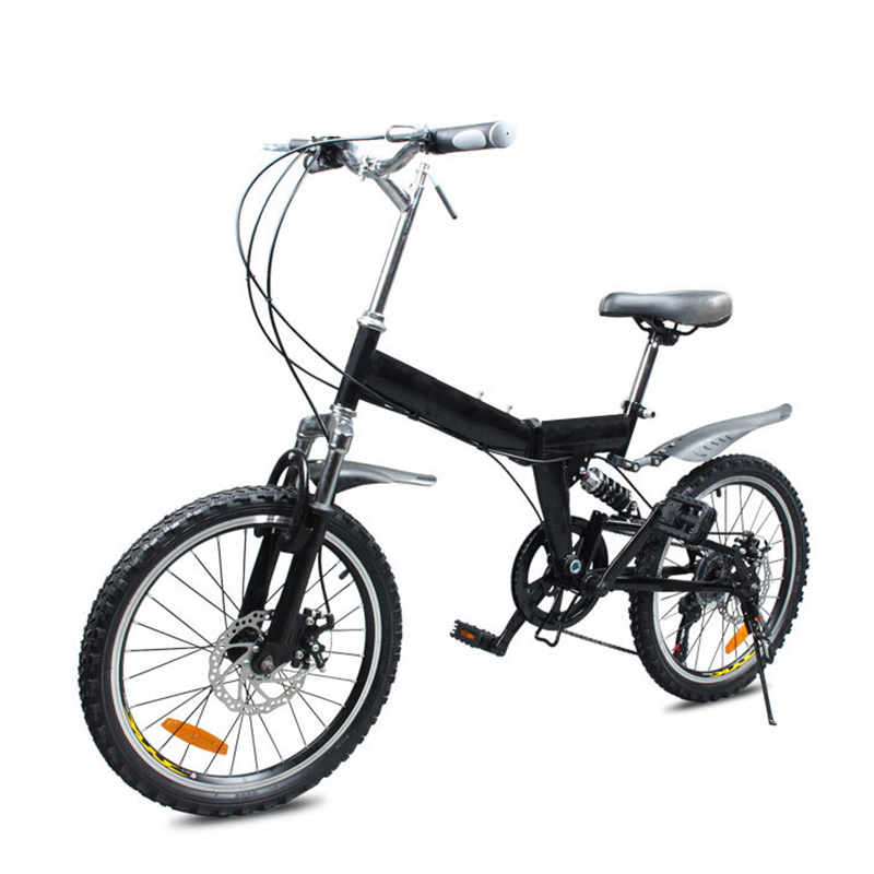 Mountain Bicycle 20 Inch High Carbon Steel Frame Folding Bike /Bilateral Folding Pedal Variable Speed Bicycle