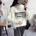 Women Sweater 2017 Spring New Fashion Knitted Pullovers High Quality Short Sweaters Letter Pull Femme Sweter Mujer SZQ100