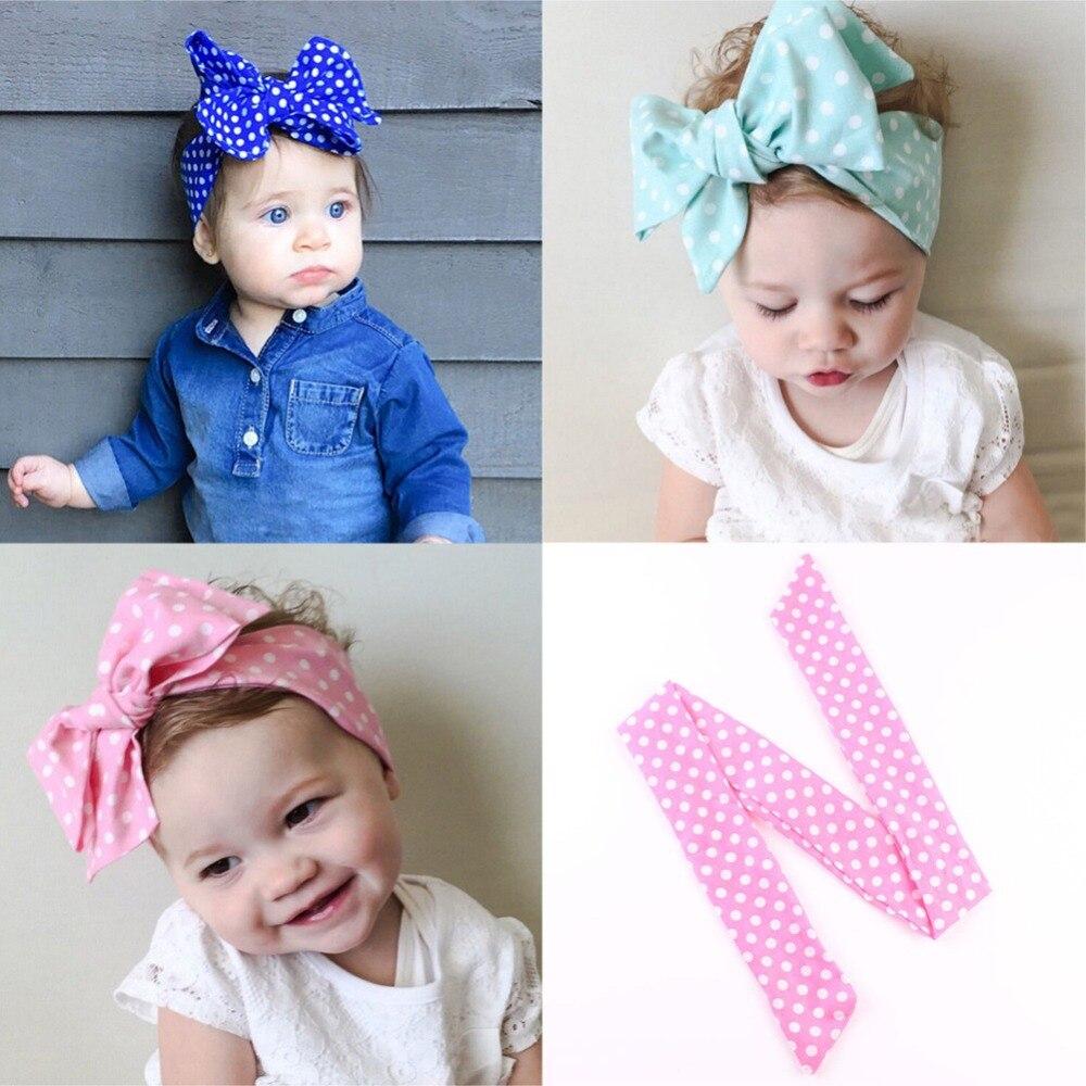 7PCS Cute Baby Girls Toddler Newborn Big Headband Headwear Hair Bow Accessories