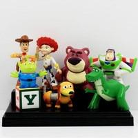 8pcs Set Toy Story 3 Mini Figures Buzz Lightyear Woody Jessie Slinky Dog Lotso PVC Action