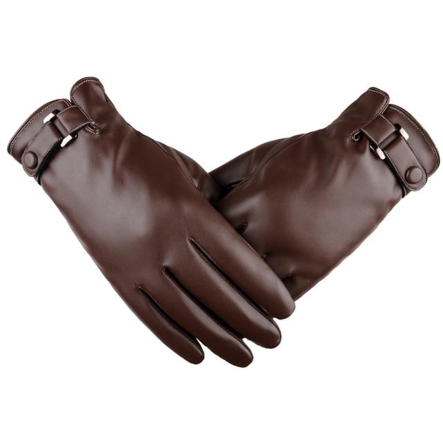 Новые однотонные ветрозащитный Прихватки для мангала теплые осень-зима Для мужчин перчатки удобные черные/коричневые трогательные Экран Прихватки для мангала варежки для мужчин