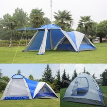 2016 UV 1 bedroom 1 living room 3-4 person anti wind waterproof family party base hiking fishing beach base outdoor camping tent
