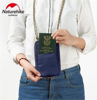 NatureHike 200D Nylon Ultralight Protable Waterproof Multifunctional Travel Bag For Documents Credit Cards Wallet