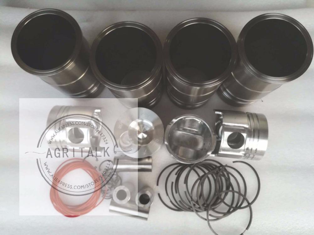 Yituo X1004 tractor parts, the set of piston group for engine LRC6105T10, Part number: shandong weituo tractor parts the distributor of ts 240d tractor the small wheeled tractor with single cylinder engine