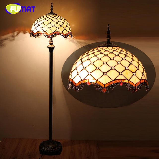 Fumat european style warm stained glass floor lamp home decor fumat european style warm stained glass floor lamp home decor baroque shade floor lights stand for aloadofball Images