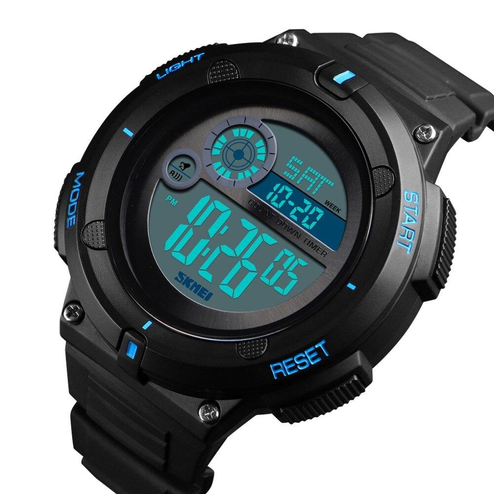 051d2740757 SKMEI Homens Relógio Digital Ao Ar Livre Relógio Do Esporte Nova Marca 50 M  2 Time