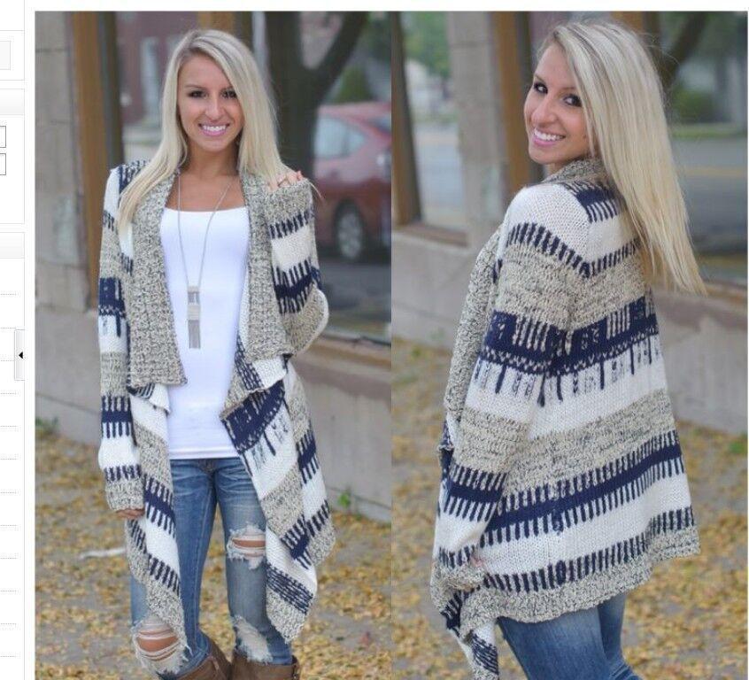 Sweater Cardigan Coat Irregular Long-Sleeve Spelling-Color Warm Fashion Autumn Women's