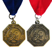 Eco-Friendly Zinc Alloy Custom Gold/Silver City of Orange Eisteddfod Metal Medal   k 200146 city of gold